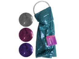 60 Units of remington sequin scarf in assorted colors - Womens Fashion Scarves
