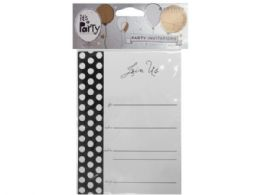 144 Units of 8 Count Black And White Dot Party Invitations - Invitations & Cards