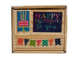 72 Units of 3pk happy birthday stamp set - Office Accessories