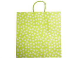 144 Units of large green gift bag with white polka dots - Gift Bags Assorted