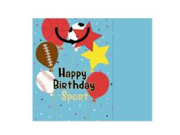 72 Units of happy birthday sport gift bag w/tissue - Gift Bags Assorted