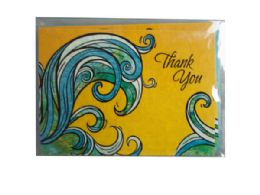 72 Units of ocean escapades thank you cards - Labels ,Cards and Index Cards