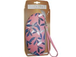 36 Units of ellen tracy sunglasses case in coral and leaves design - Eyeglass & Sunglass Cases