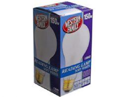 90 Units of western family 150w soft white reading lamp bulb - Lightbulbs