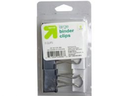 60 Units of black and white 6-count binder clips - Clips and Fasteners