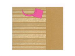 72 Units of gold striped gift bag - Gift Bags Assorted