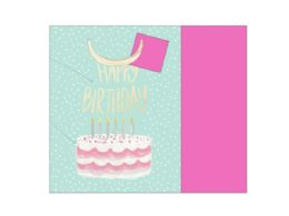 72 Units of birthday cake gift bag w/tissue - Gift Bags Assorted