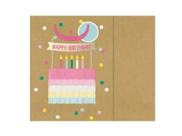 72 Units of happy birthday paper layer cake gift bag - Gift Bags Assorted
