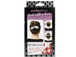 144 Units of Remington Printed Perfect Bun Bow In Assorted Colors - Hair Accessories