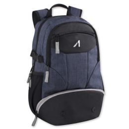"24 Units of 19 Inch Blue Heather Backpack With Laptop Sleeve - Backpacks 18"" or Larger"