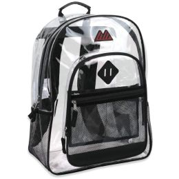 "24 Units of 17 Inch Summit Ridge Clear Backpack - Backpacks 17"""