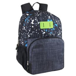 24 Units of 17 Inch Graffiti Backpack With Side Pockets - Backpacks 17""