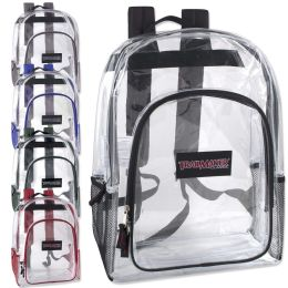 24 Units of Trailmaker Deluxe 17 Inch Clear Backpack - Backpacks 17""