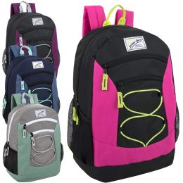 "24 Units of Urban Sport 18 Inch Multi Pocket Bungee Backpack Girls Assortment - Backpacks 18"" or Larger"