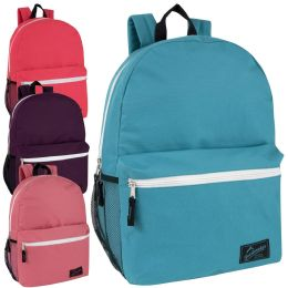 "24 Units of Trailmaker 18 Inch Backpack With Side Pocket Girls - Backpacks 18"" or Larger"