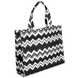 100 Units of Chevron Non Woven Tote Bags 15 Inch - Tote Bags & Slings