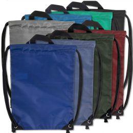 48 Units of Kids 15 Inch Drawstring Bag 8 Colors - Draw String & Sling Packs