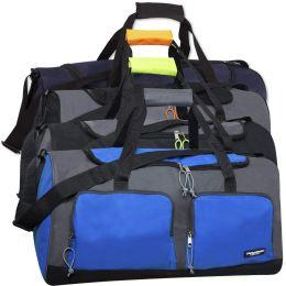 24 Units of Kids 15 Inch Drawstring Bag 5 Colors - Duffel Bags