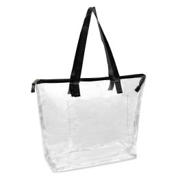24 Units of Clear Tote Bag In Black - Tote Bags & Slings