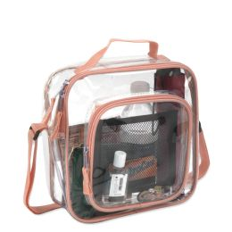 24 Units of Clear Toiletry Bag In Peach - Cosmetic Cases