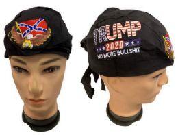 24 Units of Wholesale No More Bullshit Skull Caps Eagle Rebel Embroidery - Head Wraps