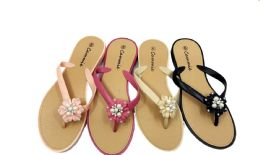 36 Units of Women's Fashion Flip Flops - Women's Sandals