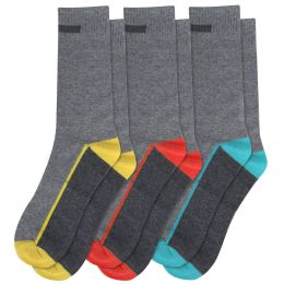 120 Units of Men's Cotton Crew Socks - Mens Crew Socks