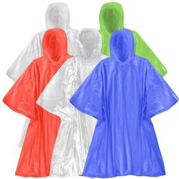 200 Units of Reusable Deluxe Rain Ponchos Clear Only - Winter Pashminas and Ponchos