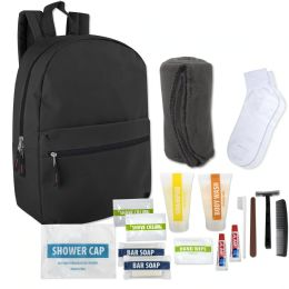 12 Units of Hygiene Kit Includes Backpack Socks Blanket And 15 Toiletries - Hygiene kits