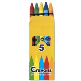 192 Units of 5 Pack of Crayons - Crayon