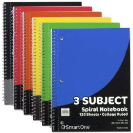 36 Units of 3 Subject Notebook College Ruled 120 Sheets - Note Books & Writing Pads
