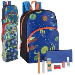 24 Units of Preassembled 15 Inch Character Backpack And 12 Piece School Supply Kit Boys - School Supply Kits