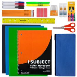 24 Units of 30 Piece School Supply Kit - School Supply Kits