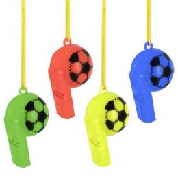 300 Units of Soccer Whistle Necklace - Light Up Toys