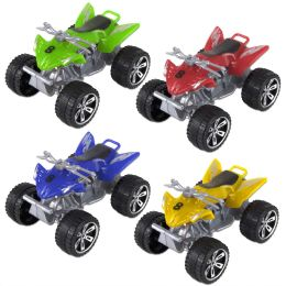 100 Units of 4 Wheel All Terrain Vehicle 4 Assorted Colors - Cars, Planes, Trains & Bikes