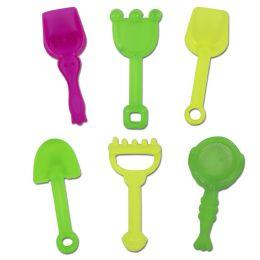 100 Units of Mini Hand Shovel & Rake 6 Piece Pack - Beach Toys