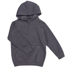 12 Units of Boys Long Sleeve Sherpa Lined Hoody Sweater In Dark Grey Color - Boys Sweaters