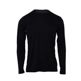 60 Units of Mens Base Layer Crew Neck Long Sleeve Shirt Plus Size In Black - Mens T-Shirts