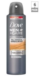 24 Units of Dove Spray Antiperspirant Deodorant Mens Talc Mineral And Sandalwood - Deodorant