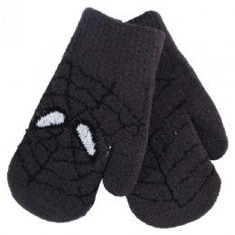 36 Units of Kids Mitten Spider - Knitted Stretch Gloves