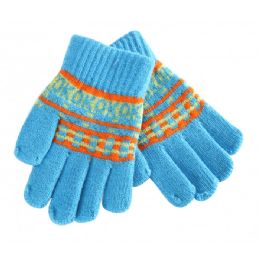 72 Units of Kids Winter Knitted Gloves - Kids Winter Gloves