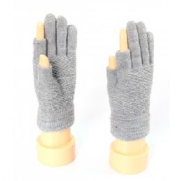 72 Units of Ladies Thumb And Index Finger Less Gloves - Knitted Stretch Gloves