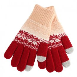 48 Units of Ladies Winter Touch Screen Gloves - Conductive Texting Gloves