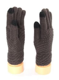 36 Units of Mens Touch Screen Fur Lined Gloves - Conductive Texting Gloves