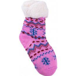36 Units of Girls Room Socks Fur Lined - Girls Ankle Sock