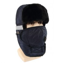 24 Units of Winter Trapper Hat With Fur - Trapper Hats