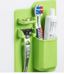 3 Units of Green Mighty Toothbrush Silicone Holder - Toothbrushes and Toothpaste