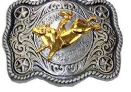 24 Units of Bull Belt Buckle - Belt Buckles