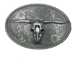 24 Units of Western Style Bull Belt Buckle - Belt Buckles