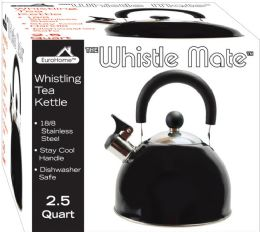 8 Units of Stainless Steel Whistling Tea Kettle Black - Kitchen Gadgets & Tools